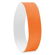 Foglio con 10 braccialetti numerati tyvek colore arancio MO8942-10
