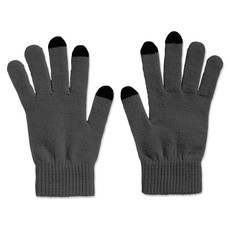 Guanti invernali con punte touchscreen colore grigio MO7947-07