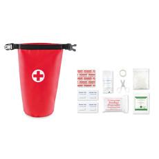 Kit primo soccorso con forbici garze e cerotti colore rosso MO9286-05