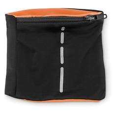 Polsino in lycra con bande catarifrangenti e tasca colore arancio MO9236-10