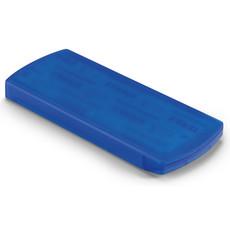Porta cerotti con 5 inclusi in plastica colore blu trasparente KC6949-23