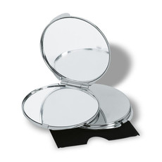 Specchietto con riflesso reale e ingrandito richiudibile colore argento lucido KC2204-17