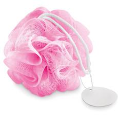 Spugna da doccia con laccetto colore rosa MO9054-11