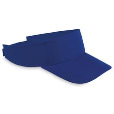Visiera in poliestere con strappo regolabile colore blu royal MO8655-37