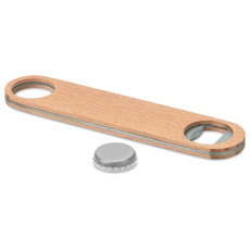 Apribottiglie in acciaio con superfice di legno colore legno MO9360-40