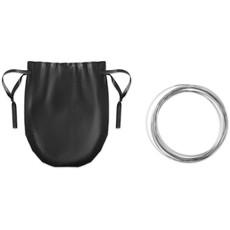 Bracciale a piu anelli metallici a molla colore nero MO9384-03