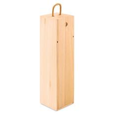 Scatola in legno per vino con cordino colore legno MO9413-40
