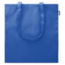 Shopper in plastica riciclata da bottiglie con manici lunghi colore blu royal MO9441-37