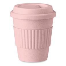 Tazza in fibra di bamboo e PP da 350ml colore rosa MO9427-11