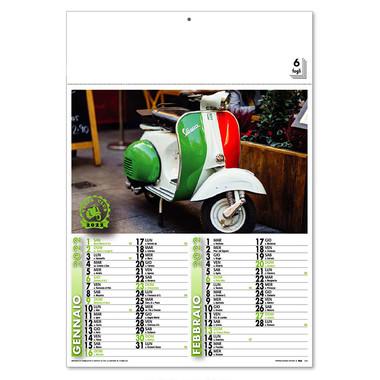 Calendario illustrato Vespa Club 2022